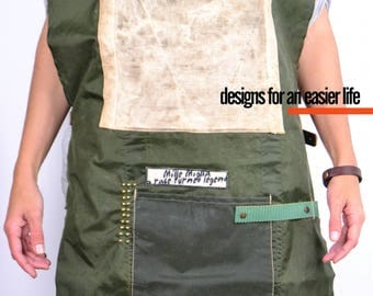 OLDED CANVAS Apron Committed