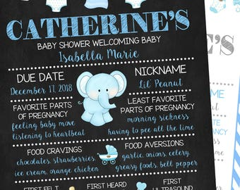 Baby Shower Chalkboard Poster Sign, Boy Baby Shower,  Announcement Sign, Pregnancy Poster, Printable Poster, Keepsake Memory Board
