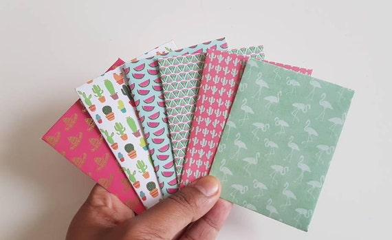 Set of 6 gift card envelopes business card holder mini set of 6 gift card envelopes business card holder mini envelopes scrapbooking envelopes coin envelopes mexican themed from paperandpinsco on etsy reheart Images