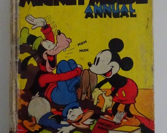 Mickey Mouse Annual 1939 for 1940 - Another Mirthquake! - Very Rare Book Year