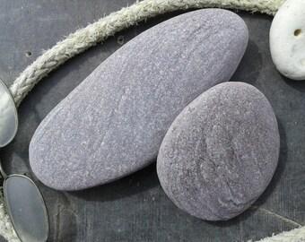 2 large beach stones 3.5''- 7''[9-18cm]. Natural sea stones. Beach pebbles for various crafts and decoration. Aquarium stones.