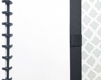 Half Letter Size Dot Grid Inserts for Discbound Planners, ARC Junior, TUL, 8-Disc Planners