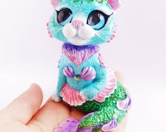 Pre-order -  Purrmaid Cat Mermaid Figurine