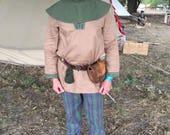 Olive Green Medieval Hood