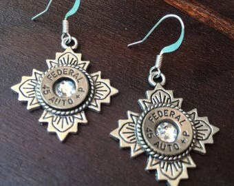 Tibetan Flower Bullet Earrings