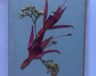 Handmade Pressed Flower Gift Card