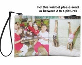 Personalized MEDIUM size wristlet with your own choice of pictures - FREE SHIPPING - gift gifts for mom girlfriend sister custom wallet bag