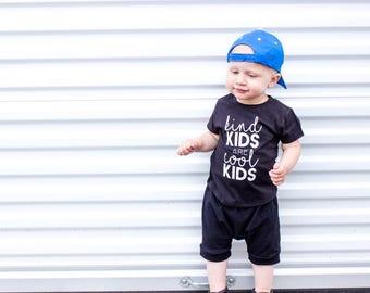 kind kids shirt, cool kids shirt, kindness shirt, kids shirt, boys shirt, girls shirt, monochrome shirt, birthday shirt, baby shirt