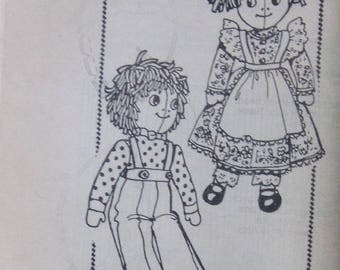 Vintage Rag Doll and Clothes Pattern Mail Order Uncut