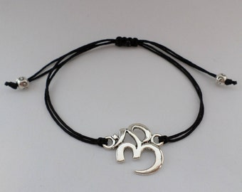 "Meditation Bracelet - "" OM "" - various colours!"