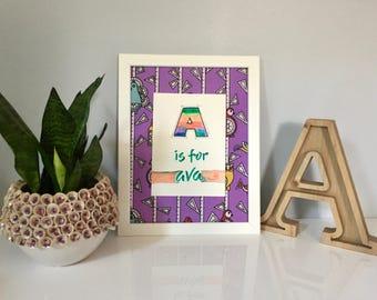 Personalized Nursery Wall Art // Initials art // Kids room // Nursery Wall Decor // Wall Art // Handwritten // Birthday // Baby Shower