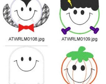 Halloween-Smileys  ( 8 Machine Embroidery Designs from ATW ) XYZ17H