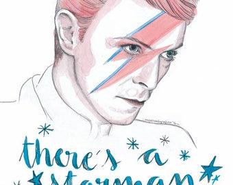 Bowie A4 print