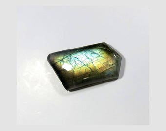 Natural Labradorite Cabochon Loose Gemstone Fancy Shape Blue Fire Labradorite Gemstone 33X18X6mm 32 Cts