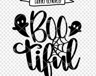 Bootiful svg, boo cut file, Halloween SVG, boo SVG, Digital cut file, halloween quote svg, ghost svg, spider web svg, commercial use OK