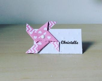 Mark up white windmill pink