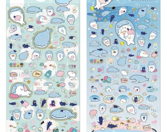 San-X RARE Jinbei San whale shark stickers