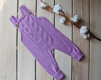 Knit baby romper / Baby overall / Baby onesie