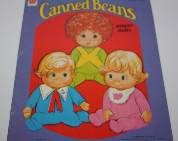Whitman 1977 Canned Beans Paper Doll Book Unused Uncut Vintage