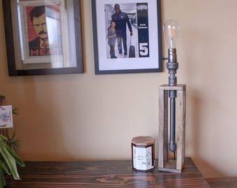 Industrial Lamp, edison led lamp, Rustic pipe lamp / Rustic lighting / reading desk lamp / Office decor / steampunk lamp / Unique light