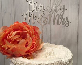wood cake topper, fiberboard,  finally Mr and Mrs cake topper, wedding cake topper, engagement cake topper, bridal shower cake topper
