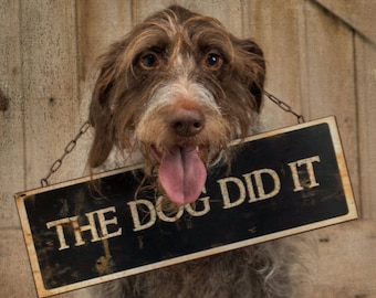 The Dog Did It Sign-Funny Dog Sign-Funny Pet Gift-Dog Mom-Dog Dad-Dog Lover Gift-Funny Sign-Funny Signs-Funny Wall Decor-Wall Art