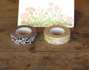 Classiky ten to sen original message bird + little garden washi tape 2rolls set masking tape
