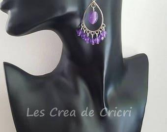 """Earrings """"dangle purple"""""""