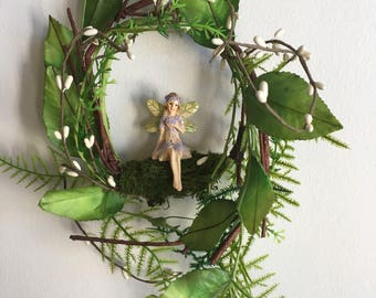 Vintage Style Woodland Fairy Birthday Gift  Mobile/Door Wall Wreath