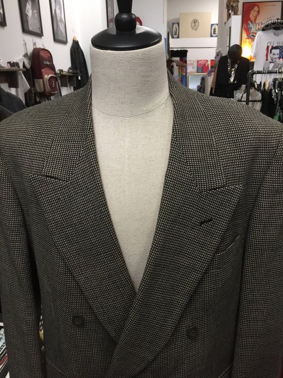 Vintage 1980s Pierre Cardin Double-Breasted Men's Blazer Sports Coat Sz 44