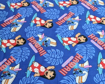 Lilo and Stitch Surf's Up Cotton Fabric