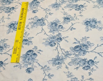 Maison Blue Flower Cotton Fabric from Robyn Pandolph for RJR Fabrics