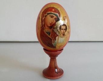 Egg Orthodox icon Virgin of Kazan