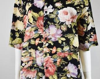 Vinage Floral Short Sleeve Blouse