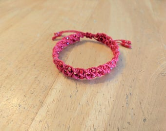 Red Spiral Bracelet, Red Hemp Bracelet, Adjustable Bracelet, Macrame Bracelet, Red Hemp Jewelry, Hemp Bracelet, Red Bracelet, Red Hemp