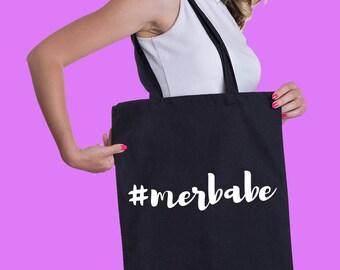 Merbabe tote bag, Free shipping, #Merbabe bag, Tote bag, Cotton tote bag, Fun tote bag, Cool tote, Beach tote bag