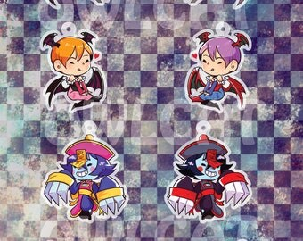 Darkstalkers Acrylic Charms