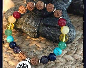 Rudraksha bracelet, Bodhi Seed Bracelet, Meditation Bracelet, Yoga Bracelet, Chackra Bracelet, Healing stones, healing crystals, reiki,