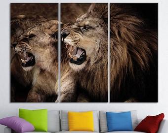 Lion Wall Art Wild Cat lion art lion canvas lion print lion poster lion photo Lion Wall Decor lion canvas art king of beasts