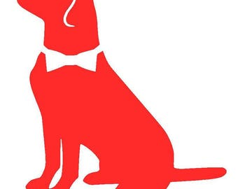 Labrador Retriever with Bow-tie Vinyl Decal | Lab Decal | Pet Decal | Personalized Dog | Yeti Cup Decal | Car Decal | Laptop Sticker |