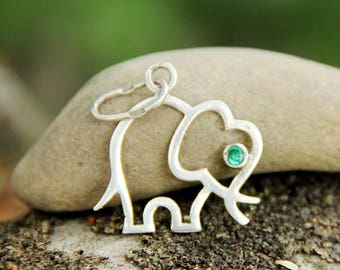 gift|for|her Vintage elephant jewelry 925 Sterling Silver Jewelry|for|her African style Sterling Silver elephant charm elephant Pendant