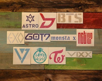 K-Pop Sticker Decal (BTS, EXO, Monsta X, NCT127, Twice, GOT7, Seventeen, SHINee, BAP, SF9, Astro, Vixx)