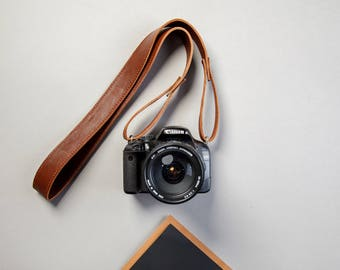 Leather camera strap, personalized camera strap, camera straps, camera wrist strap, leather belt, camera neck strap, brown, free shipping