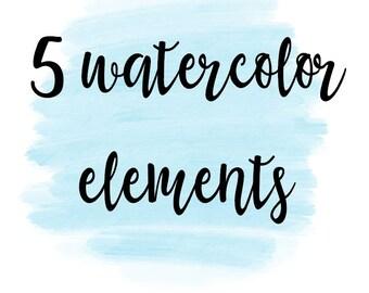 Water Color Designs/ High Resolution watercolor elements/ logo elements/ water color splashes/ water color backgrounds/ water color png file