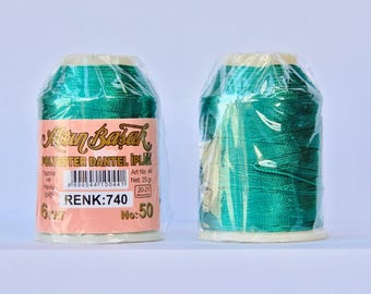 oya Turkish lace crochet polyester no50 thread color 740 Altun Basak haakgaren for needle no 21 / 0,55 - 20 gr