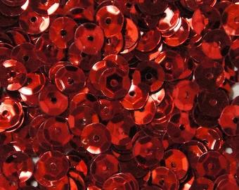 Red Metallic Hexagonal Sequins