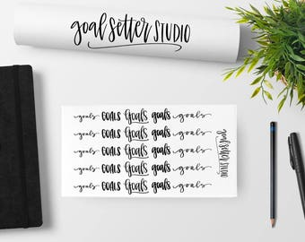 Goals Stickers | Motivational, inspirational, planner stickers