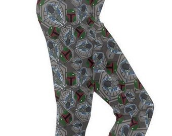 Boba Fett Leggings - Star Wars Leggings Cosplay Leggings Comicon Leggings Sci-Fi Leggings Bounty Hunter Leggings Mandalorian leggings