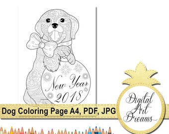 dog coloring page a4 coloring pages pdf 2018 year of the earth dogs