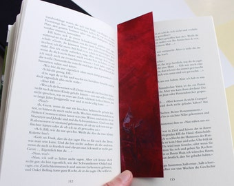 Bookmark abstract acryl red violet Book-Lovers present girl woman